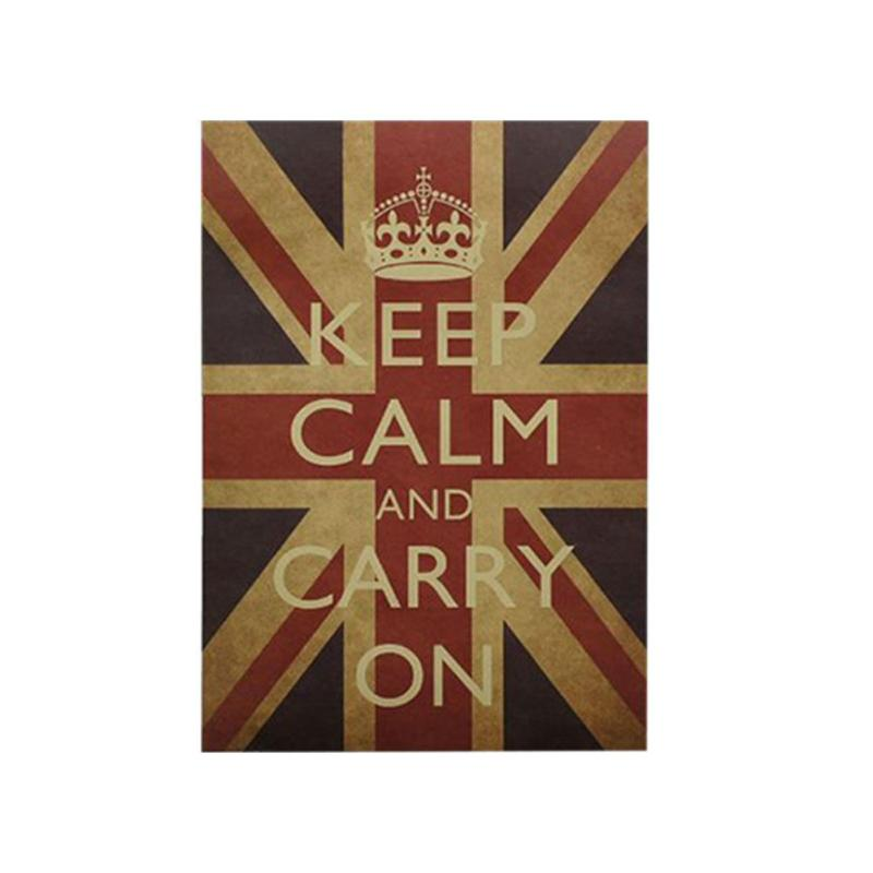 Vintage British Flag Wall Sticker Classic Kraft Paper Wallpaper Poster Removable English Quote Home Decor Mural Decal In Stickers From Garden On