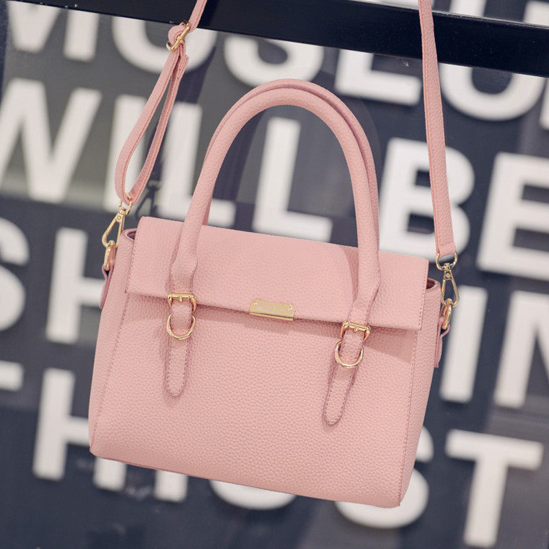Embossing PU Bag 2016 New Fashion font b Handbag b font Magnetic Button Flap Bag Women