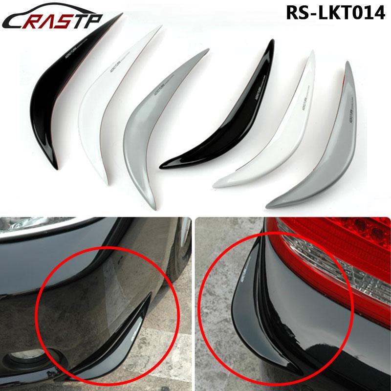 Front/Rear Bumper Sticker Carbon Fiber Rubber Front Rear Edge Protector Corner Guard Anti-rub Scratch  RS3-LKT014