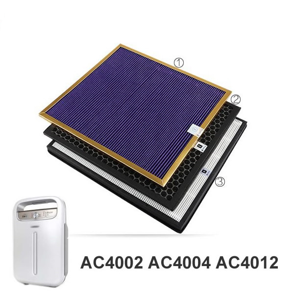 Original OEM,AC4121+AC4123+AC4124 filters kit for Philips AC4002 AC4004 AC4012 Air purifier parts original oem for ac4002 ac4004 filter sets formaldehyde filter activated carbon filters hepa ac4121 4123 4124 air purifier parts