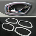 Matte ABS Interior door handle cover decoration Car Accessories For Renault Clio IV 2013-2017 5door Hatchback
