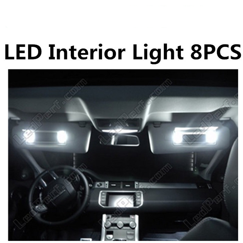 Tcart 8pcs X free shipping Error Free LED Interior Light Kit Package for Range Rover Evoque eaccessories 2011-2014 tcart 7pcs free shipping error free auto