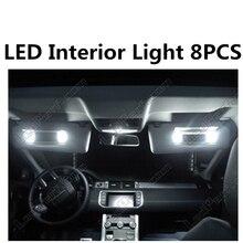 Tcart 8 шт. X Бесплатная доставка ошибок внутренняя подсветка комплект Вышивка Крестом Пакет для Range Rover Evoque eaccessories 2011-2014