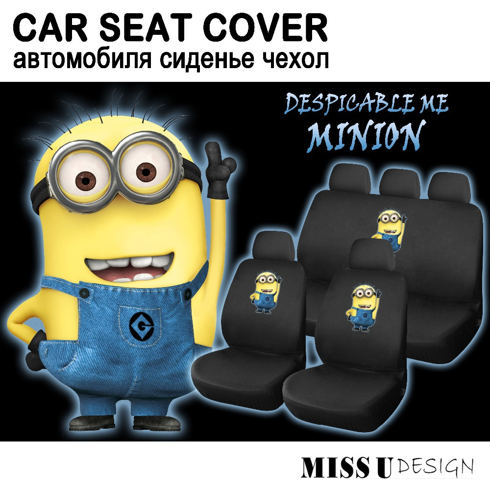 CAR SEAT COVER WITH DESPICABLE ME MINION PRINTING WHOLE