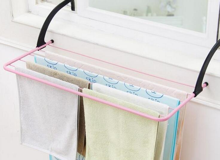 52*33CM Multifunction Towel Rack Balcony Folding Drying Rack Home Storage Shoes Organization Rack