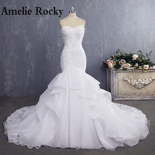 3e2fd60ce00 Vestido De Noiva Cheap Bride Gown Sexy Mermaid Wedding Dresses Vintage Lace  Wedding Dress 2018