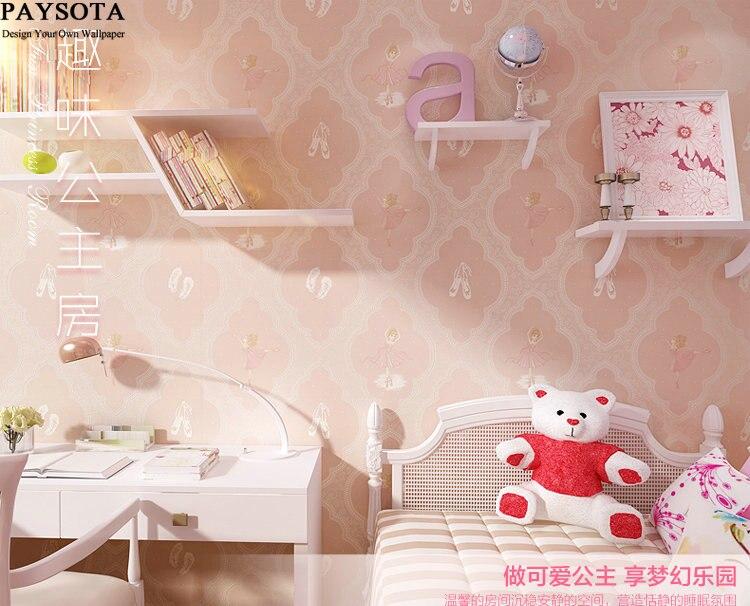 Prinses Kinderkamer Set : Paysota kinderkamer behang cartoon roze prinses kamer mooie