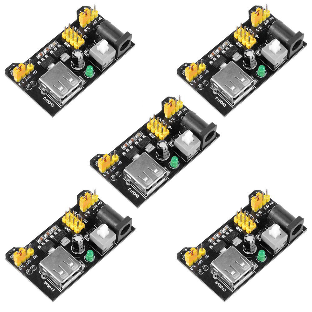 Hot Sale 5PCS/Lot MB102 Breadboard Power Supply Module 3.3V 5V For Arduino UNO Kit 2560  ...