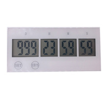 Digital Countdown Days Timer Touch key Kitchen 999 Voice reminder (white)