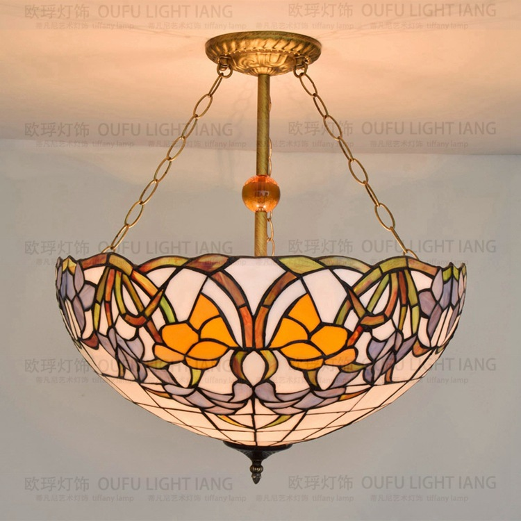 20inch European style Tiffany color glass pendant light bar dining room living room Cafe Club decoration lamp E27 110-240V20inch European style Tiffany color glass pendant light bar dining room living room Cafe Club decoration lamp E27 110-240V