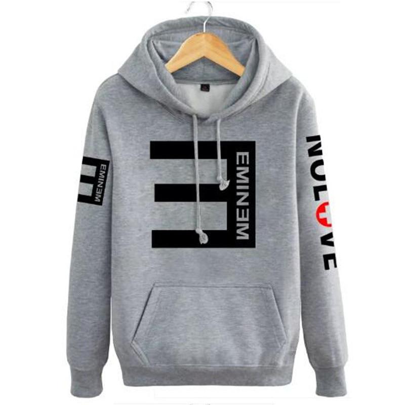 Hip Hop Reverse E print hoodies Sweatshirt hoodie men Hoody Men and Woman Eminem Rap music Off White lil peep Streetwear WGWY113 hoodie
