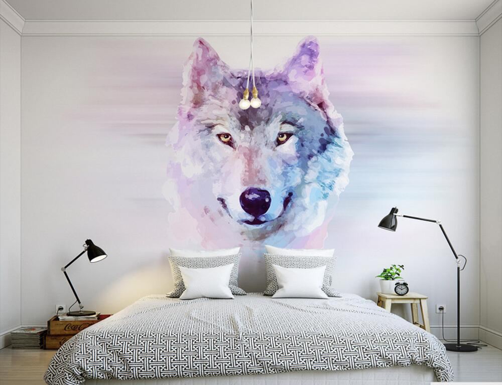 Custom 3D murals,cartoon Wolf papel de parede, hotel restaurant coffee shop living room sofa TV wall children bedroom wallpaper custom 3d murals cartoon wolf papel de parede hotel restaurant coffee shop living room sofa tv wall children bedroom wallpaper