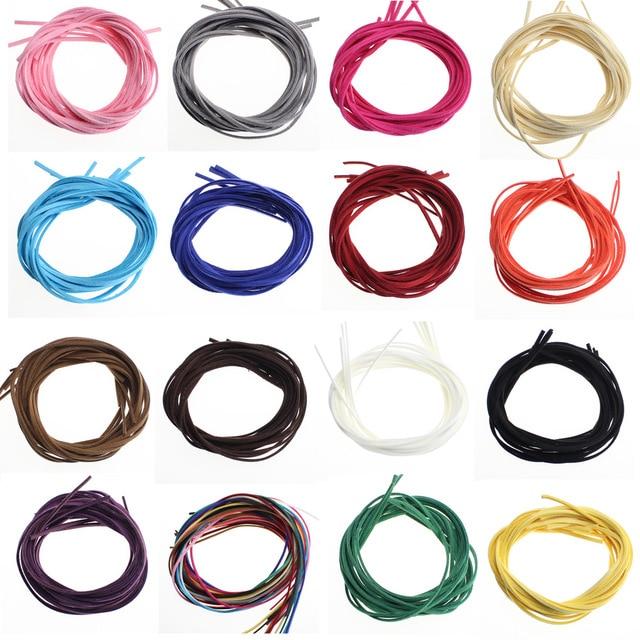 1 metros/lote collar de cordón de cuero DIY de cuerda coreano Accesorios hechos a mano de cuerda de cuero pulsera de materiales