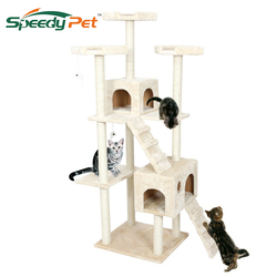 Domestic Delivery H182cm Cat Toys Cat House Cat Tree Pet Home Furniture Scratching Post Wood Tree Cat Jumping Climbing Frame