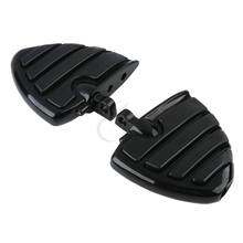 Repose-pieds de Style aile à monture masculine pour moto repose-pieds pour Harley Touring Electra Glide Softail FLS FXCW FLSS FLHS v-rod(China)