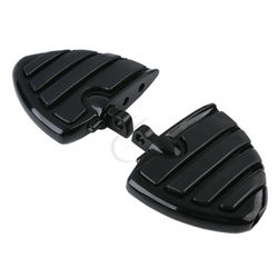 Motorcycle Male Mount-Style Wing Style Foot Rests FootPegs For Harley Touring Electra Glide Softail FLS FXCW FLSS FLHS V-Rod