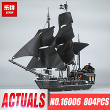 804 шт. Лепин 16006 Пираты Карибского моря Black Pearl строительный Блоки 4184 прекрасный образования boytoy для детей игры