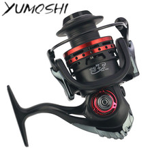 YUMOSHI Spinning Fishing Reel 1000 2000 3000 4000 13+1BB 5.5:1 EVA Handle Spinning Wheel Salt Water Fishing Carretilha De Pesca