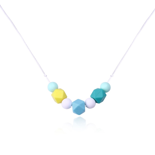 Silicone teething rainbow necklaces geometry beads food silicone silicone teething rainbow necklaces geometry beads food silicone teether necklace pendants nursing necklace aloadofball Gallery