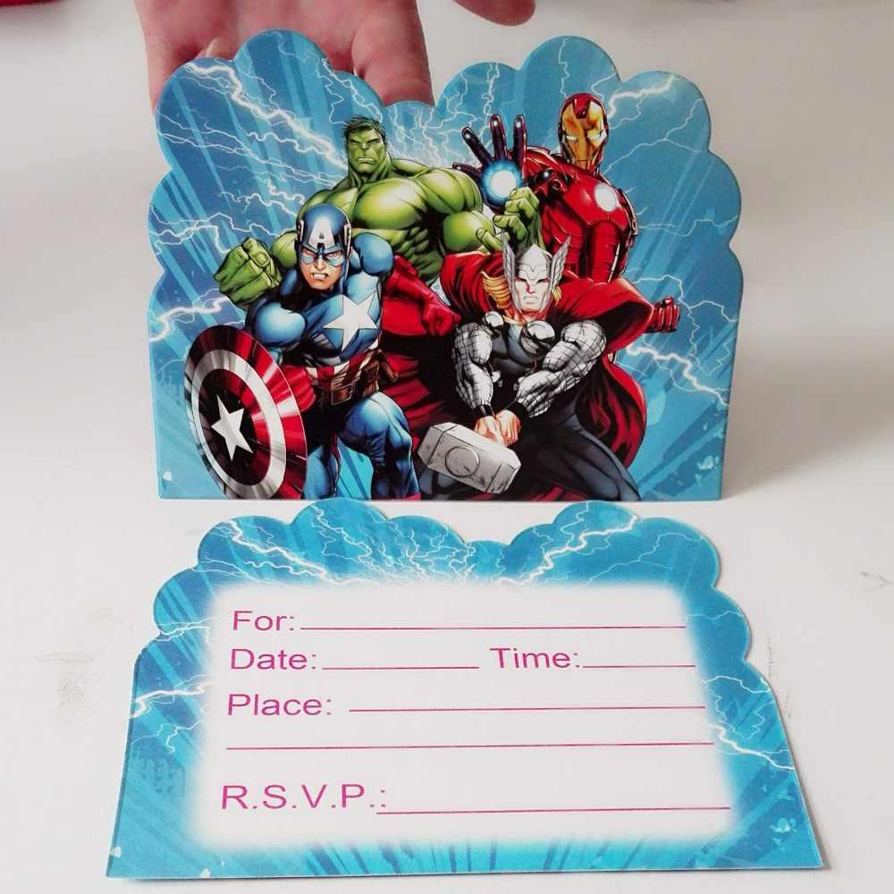 10 Uds Bunny Boy Hulk Cumpleaños Fiesta Invitación Suministros Para Fiestas Y Tarjetas Y Decoración De Eventos Favores Invitación Card13