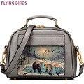 Flying birds! bolsa de couro das mulheres sacos de marcas famosas mulheres mensageiro saco bolsa das mulheres bolsos de alta qualidade bolsa feminina LS8235fb