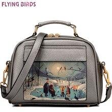 Flying birds! bolso de cuero de las mujeres de marcas famosas mujeres bolsas de mensajero bolso de las mujeres bolsa bolso bolsos femeninos de alta calidad LS8235fb