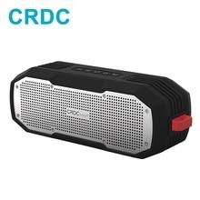 مكبر صوت بلوتوث CRDC مشغل MP3 صغير محمول للأماكن الخارجية ضد الماء وعمود استريو لاسلكي ومكبر صوت جهير لهاتف آيفون وشاومي