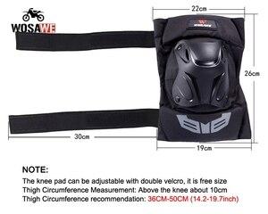 Image 3 - WOSAWE motocykl 4 sztuk/zestaw łokieć i ochraniacze na kolana ochrona Moto sprzęt ochronny Motocross ochraniacze Sport pancerz zestaw PE Shell
