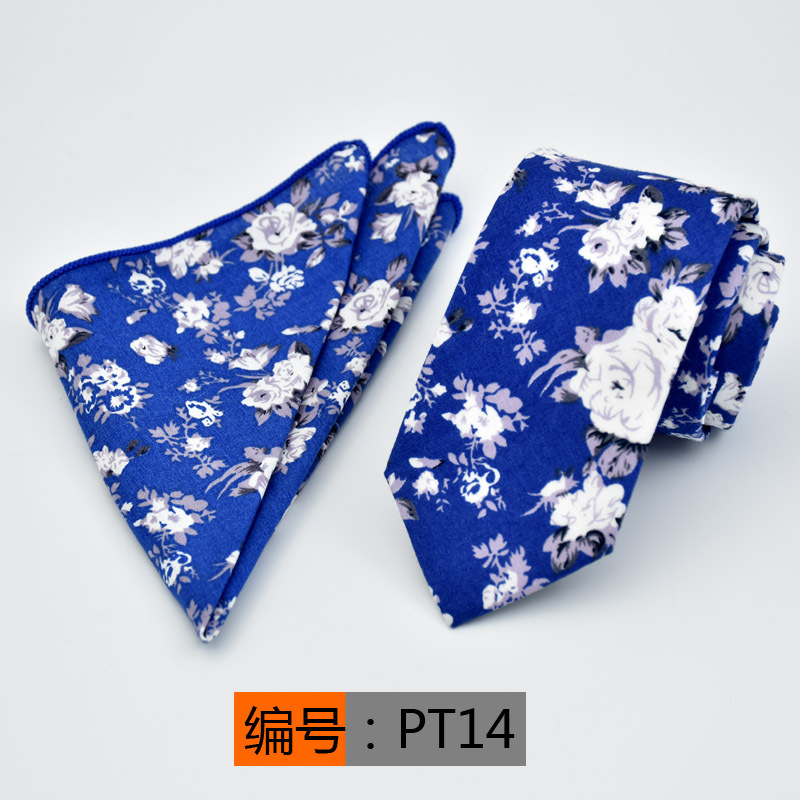 Floral Paisley Tie Set Silk Jacquard Mens Necktie Gravata Pocket Handkerchief for Wedding