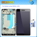 "Replacement for Microsoft Nokia Lumia 950XL 950 XL lcd display with touch screen digitizer frame assembly black color 5.7""+tools"
