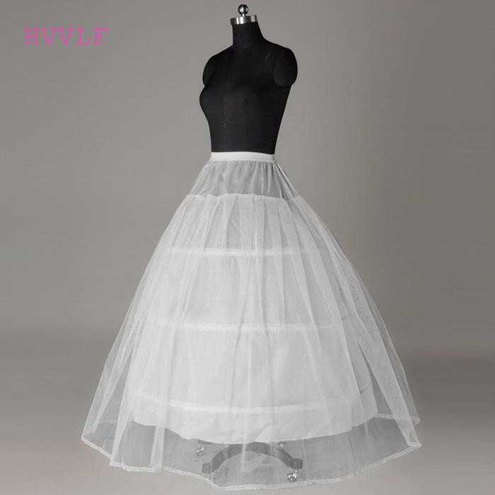 Hot Sale Cheap Price White 3 Hoop Petticoat For Wedding Bridal Gown Dress Underskirt Crinoline Wedding Accessories 2019