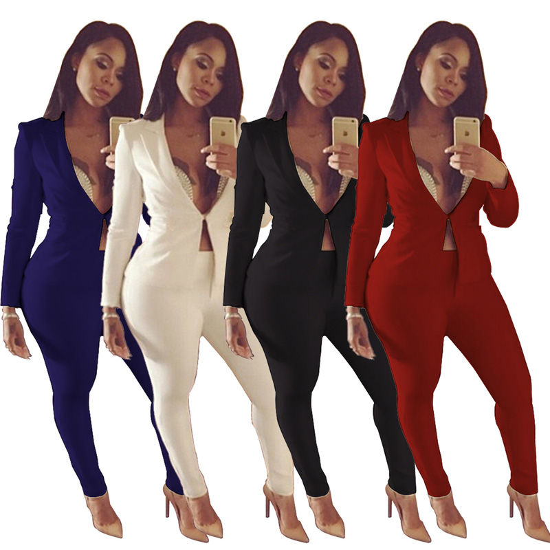 734c46332 Pantalones En Black Conjunto Casual Sexy Traje Para Azul royalblue V De  redwine Chaqueta Y white Blanco Elegante Abrigo Oficina ...