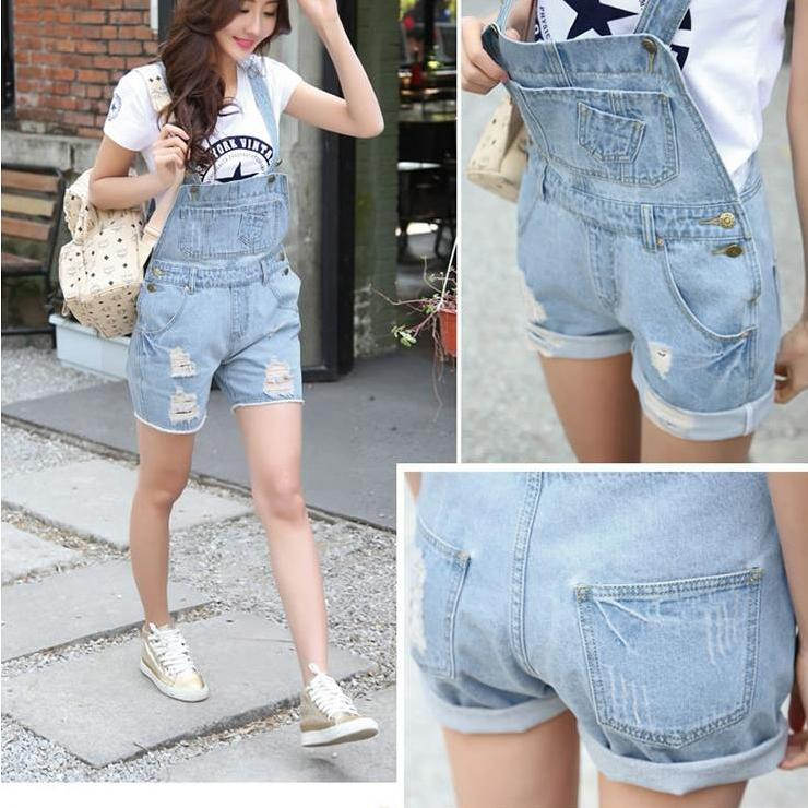 washed ripped denim jeans overalls women with pockets tore up plus size cowboy female bib casual short jeans pants women shorts denim overalls male suspenders front pockets men s ripped jeans casual hole blue bib jeans boyfriend jeans jumpsuit or04