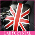 Ladycrystal Fashion Union Flag Waist Pillow High Quality PU Leather Union Flag Design Car Waist Pillows