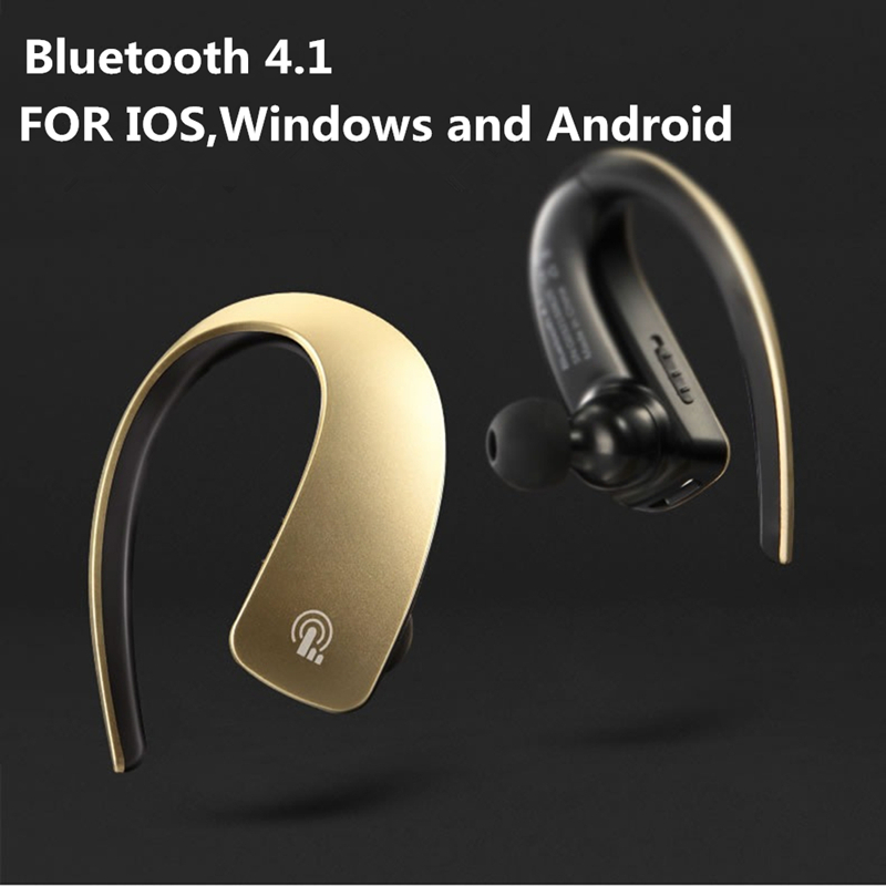2016 newest Wireless Bluetooth Stereo Headset Earhook Headphone In Ear Earphones For Xiaomi Sony Apple mobile