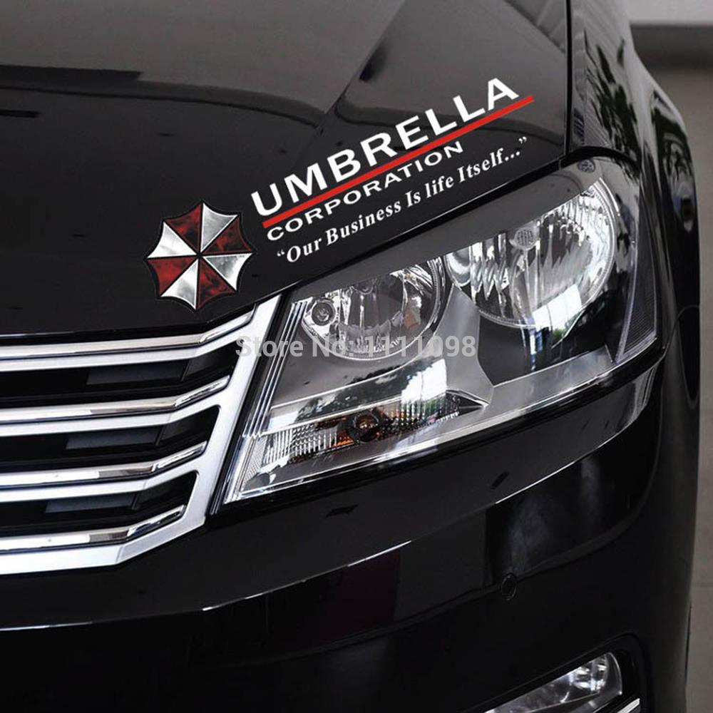 Car sticker design photo - 10 X Newest Design Umbrella Car Stickers Sports Mind Eyelids Decals For Tesla Chevrolet Volkswagen Honda