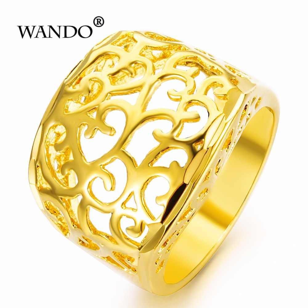 Wando ערבי זהב צבע משלוח גודל טבעת עבור נשים/נוער, מזרח התיכון דובאי חתונה תכשיטי האתיופית אפריקאי מסיבת מתנה WR23
