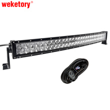 5D 32 inch 300W Curved LED Work Light Bar for Tractor Boat OffRoad 4WD 4×4 Truck SUV ATV 12V 24v with Wiring Kit