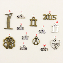 20Pcs Wholesale Bulk Diy Jewelry Accessories Number 1 Hand Made Charms Charm Women Backless Dress HK157