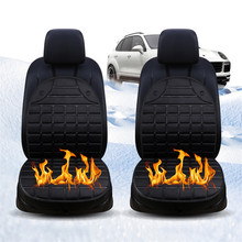 Heated Car Seat Chair Cushion 12V Heating Warmer Pad Hot Cover 2pcs Universal Warmer Pad Hot Cover 2019 New Winter  #YL1 hot 2pcs universal new quick warm 12v car side mirror glass heat heated heater defogger pad mat for vehicles cars accessories