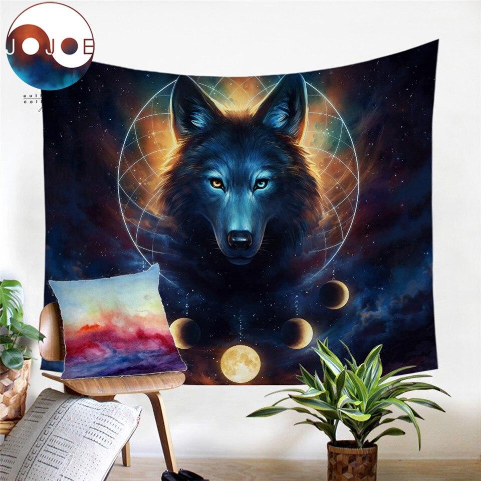 Animals Wolf Owls Deer Decorative Hippie Mandala Macrame Bohemian Wall Hanging T