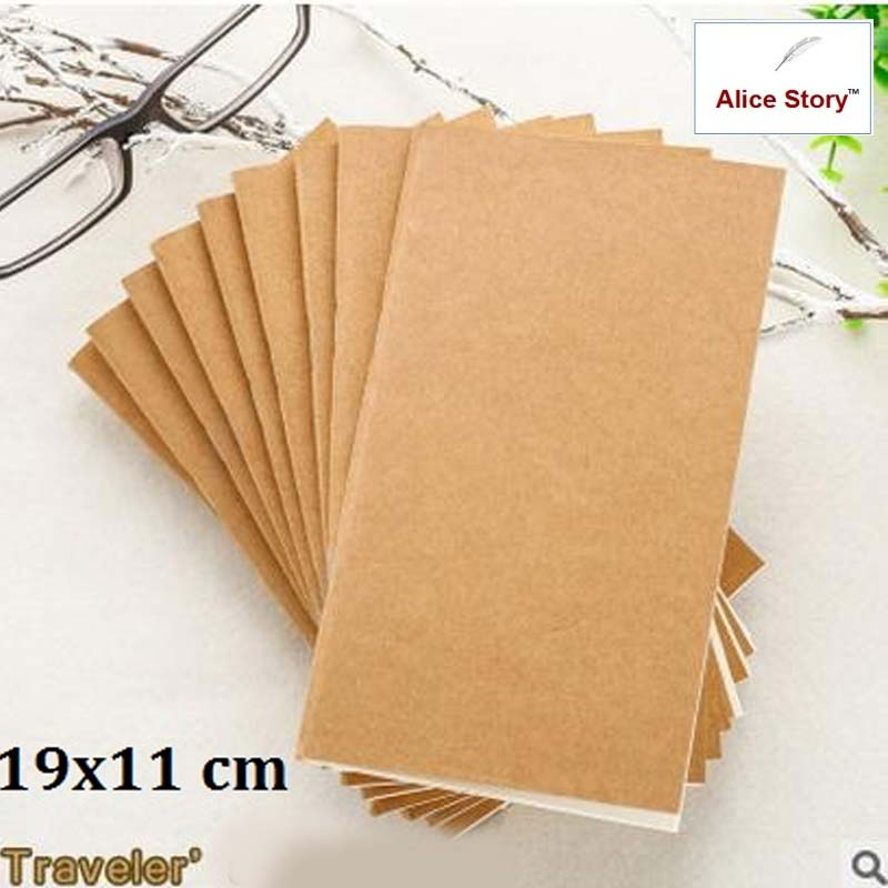 Macaron Traveler'S Notebook Refill Replace Inner Core Notebook 19X10.5  M Special Size Infun Travel Diary Journal