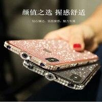 Alabast Iph 6 6s 7 8 Diamond Case IPh XS MAX X Flash Bumper Case Luxury with Back Sticker Bling Diamond