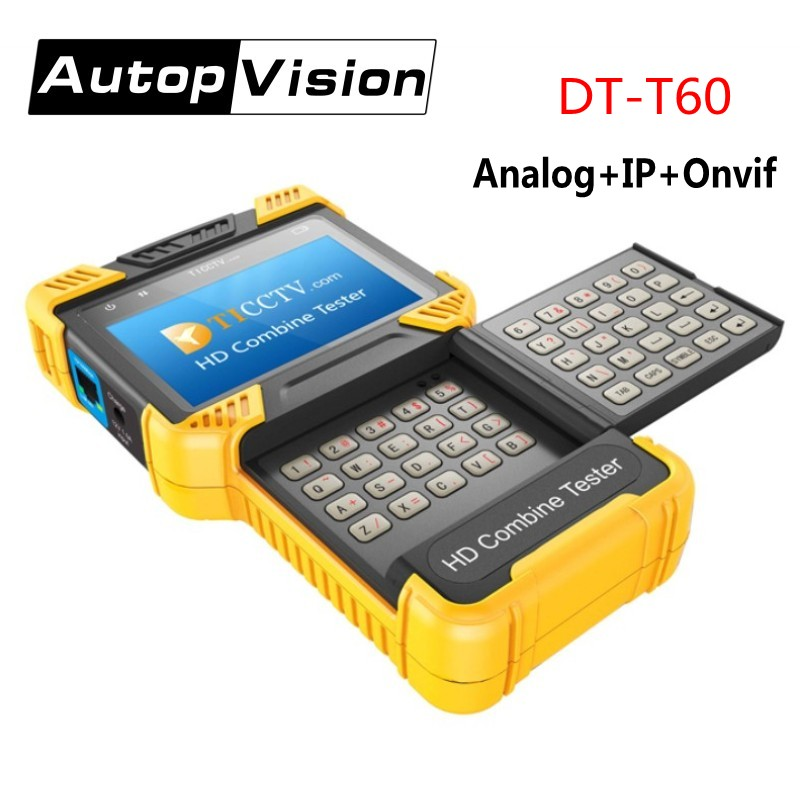 DT T60 4.0 Inch 1080P HD CCTV Camera TESTER IP Analog Camera Tester Monitor support IPC+CVBS /ONVIF /12V 1A Power Output