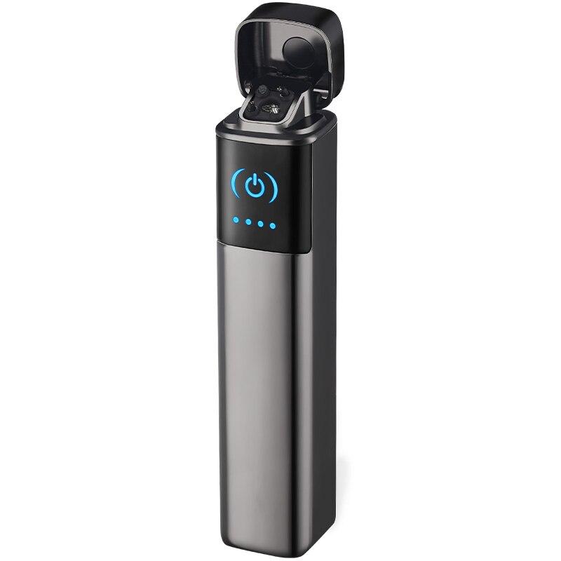 Мини плазменная зажигалка с двойной дугой, квадратная электрическая зажигалка, перезаряжаемая USB Зажигалка, защищенный от ветра для курени...