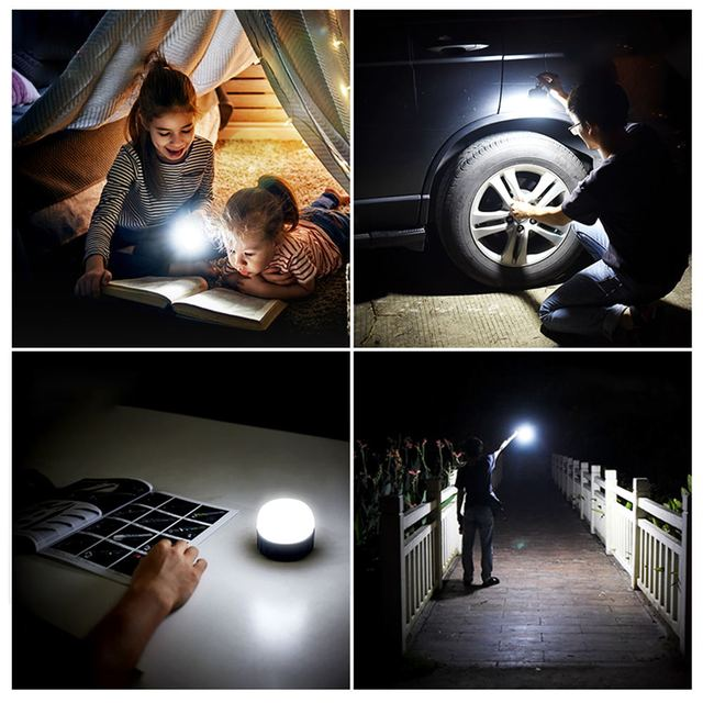 7200mAh Portable Lantern Camping Lamp Tent Light Emergency Reading Repairing Lamps Waterproof Hang Magnet Flashlight DC Interfac 6