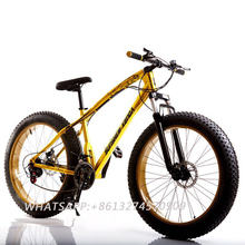 26×4.0″Super Wide Tire Snow Bike 2017 Free Delivery Mountain Bike 20-Inch And 26-Inch 7/21/24/27 Speeds Fat Tire Snow Bicycle