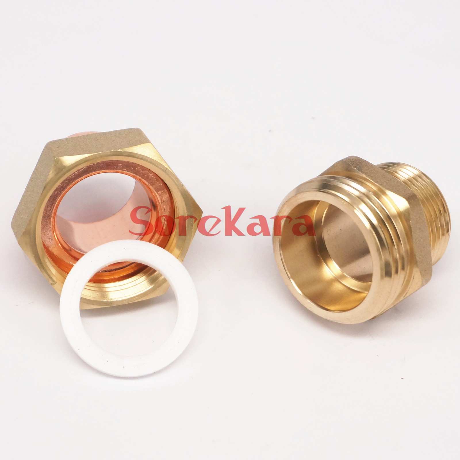 Quot bsp mm brass male thread socket union to copper