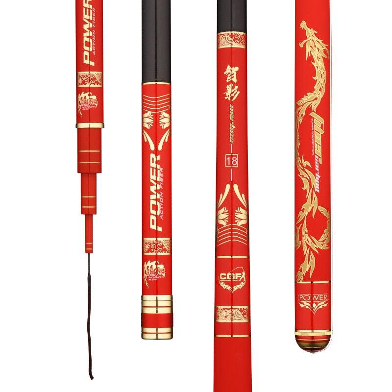 8.1 m Taiwan canne à pêche pour gros poisson Olta Super dur carbone noir Pit Pole ultraléger 28 tonauté bâton à main Pesca matériel de pêche