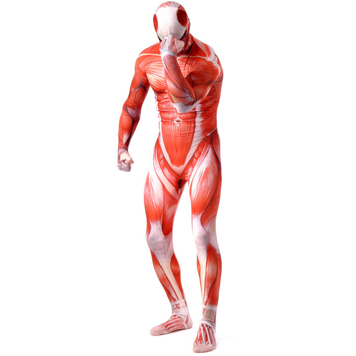 aliexpresscom buy attack on titan cosplay shingeki no kyojin costume colossal prop tights muscle man halloween costumes for men adult zentai from - Halloween Muscle